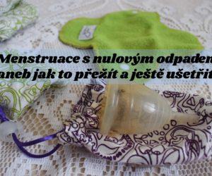 Menstruace s nulovým odpadem aneb jak to přežít a ještě ušetřit?
