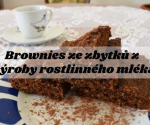 Brownies ze zbytků z výroby rostlinného mléka