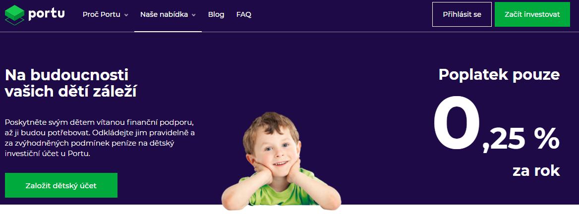 Reklama na portu dětský účet