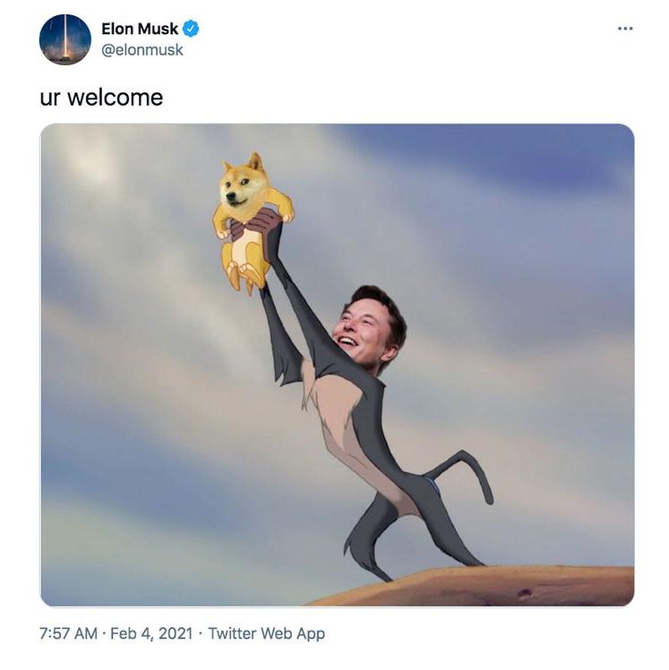 Tweet z profilu Elona Musk